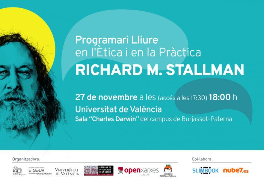 """Cartel Conferencia """"Programari Lliure en l'Ètica i en la Pràctica"""""""